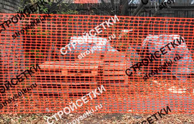 Аварийное ограждение 150 гр/м2 для дорожных работ фото