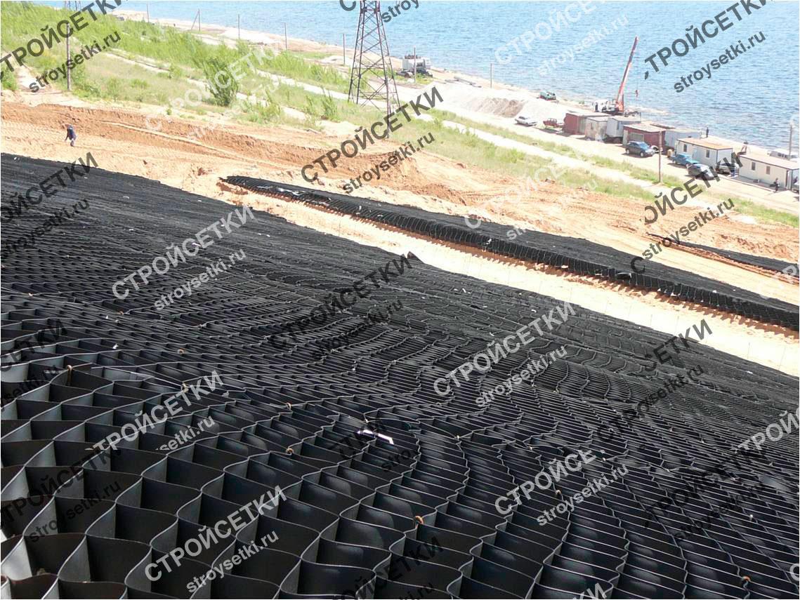 Георешетка строительная полимерная фото